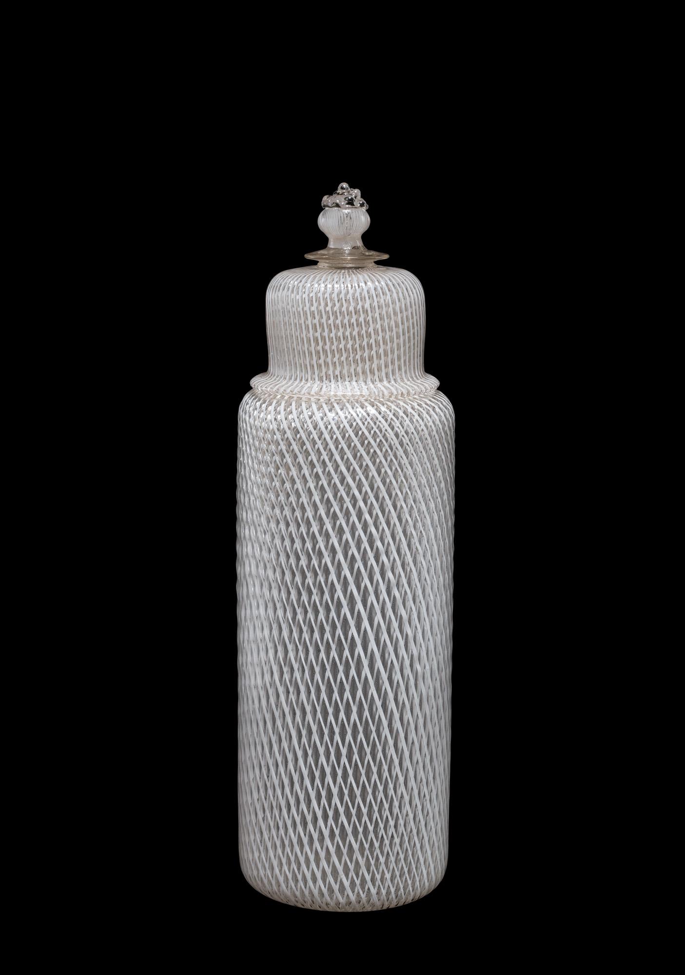 Reticello Lidded Bottle