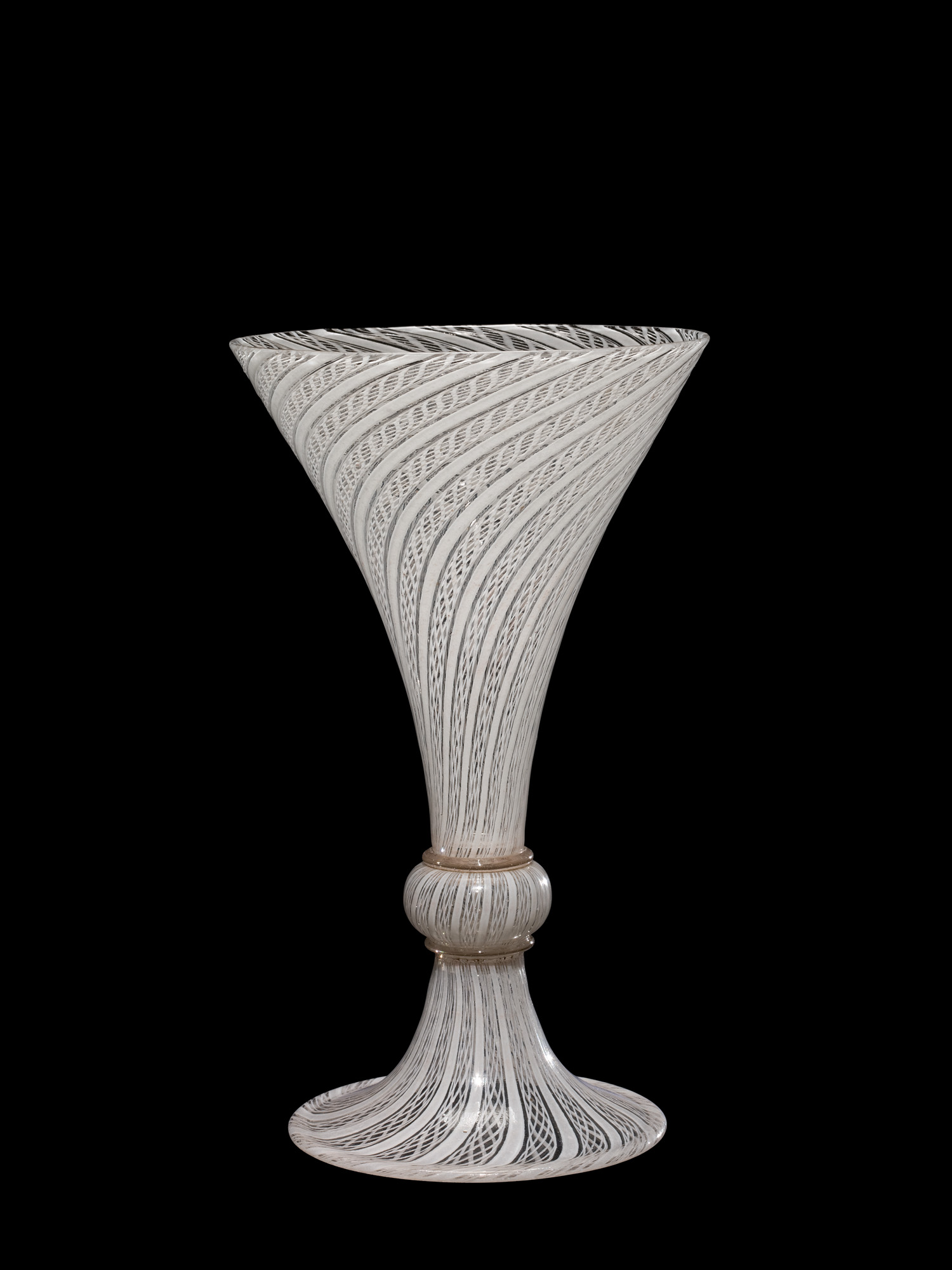 Three-bubble Goblet with Filigrana