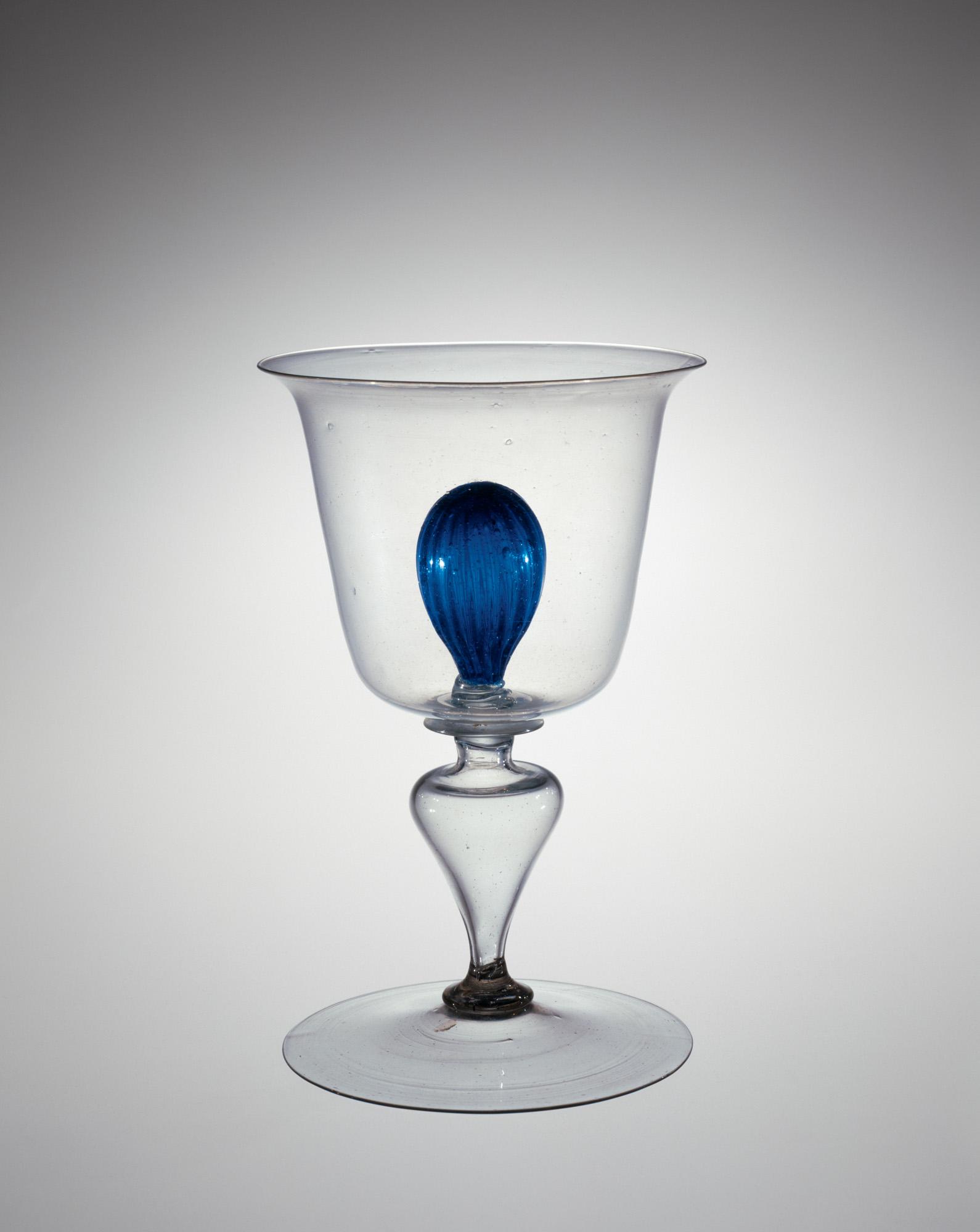 Goblet with Inner Blue Ball