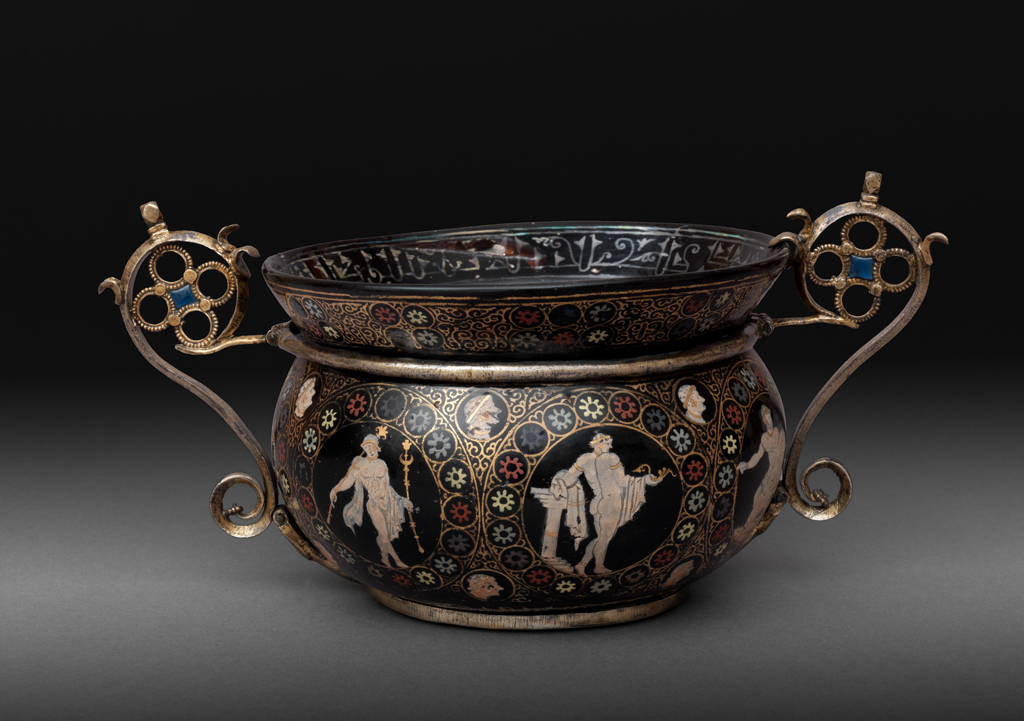 FIG. 12. San Marco Bowl, gilded, enameled. Byzantine, probably 10th century. H. 17 cm, D. 17 cm. Treasury of San Marco, Venice (109). Photo: Cameraphoto Arte, Venice / Art Resource, NY.