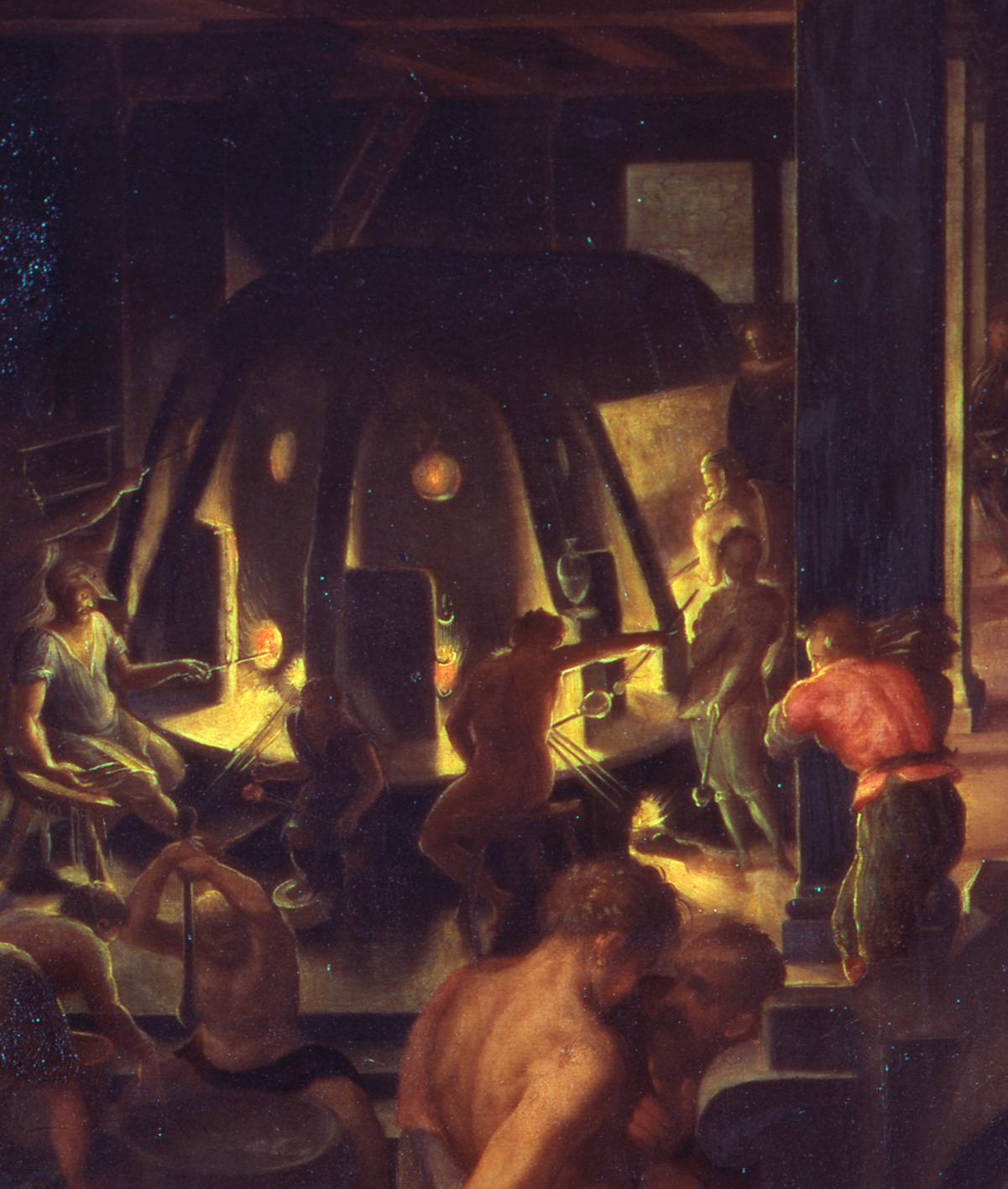 FIG. 40. The Medici Glass Workshop (detail). Giovanni Maria Butteri (Italian, 1540–about 1606), 1570. Palazzo Vecchio, Studiolo of Francesco I. Photo: Scala / Art Resource, NY.