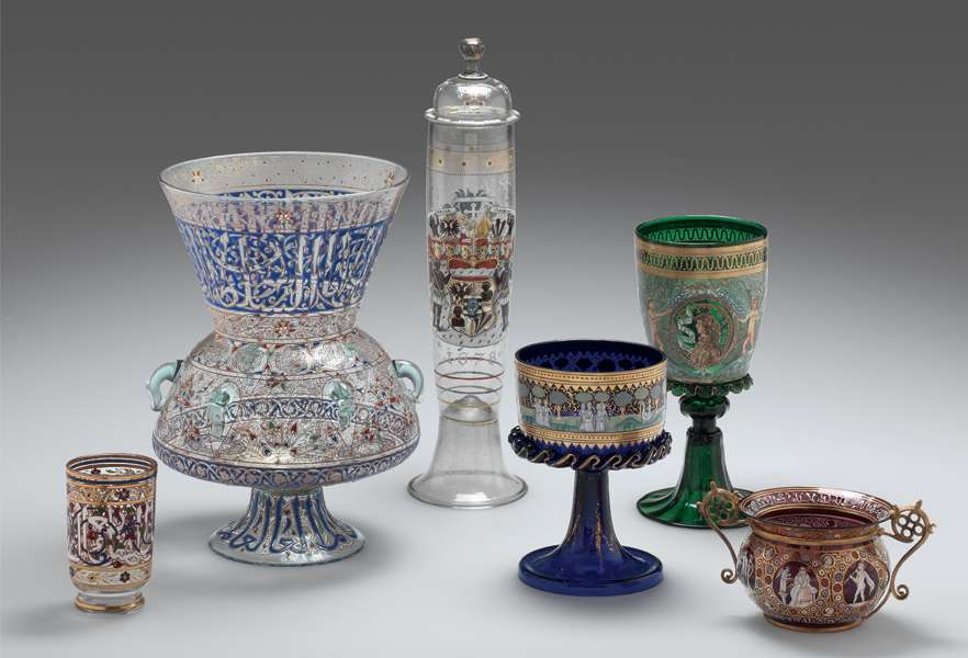 group of Venetian style objects