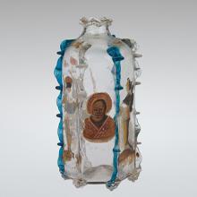 Devotional Bottle with Saint Nicholas of Bari, Venice, Italy, 1600-1699. 2000.3.7.