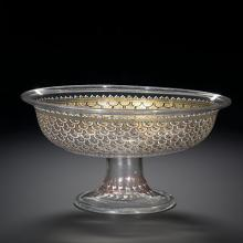 Tazza (bowl with pedestal, enameld and gilded)