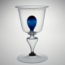 Goblet with Inner Blue Ball