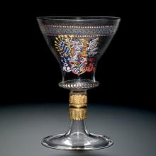 Goblet with Arms of the Duchy of Bavaria, about 1540-1544. Bequest of Jerome Strauss. 79.3.164.