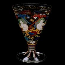 Footed Beaker with Grotesque Decoration, Venice, Italy, about 1500. Bequest of Jerome Strauss. 79.3.191.