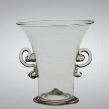 Beaker, Venice, Italy, 1600-1699. Overall H: 7.6 cm, D. (rim): 7.3 cm; D. (foot): 4.4 cm. Bequest of Jerome Strauss. 79.3.932.
