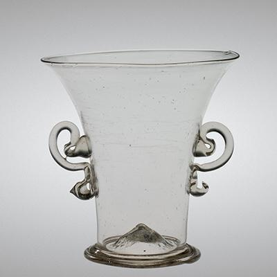 Beaker, Venice, Italy, 1600-1699. Overall H: 7.6 cm, D. (rim): 7.3 cm; D. (foot): 4.4 cm. Bequest of Jerome Strauss. 79.3.932.